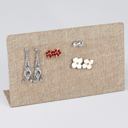 "Multi Function Display Stand, Burlap,  7 5/8"" x 2"" x 4 1/2""H, (Jewelry Pin Not Include)"