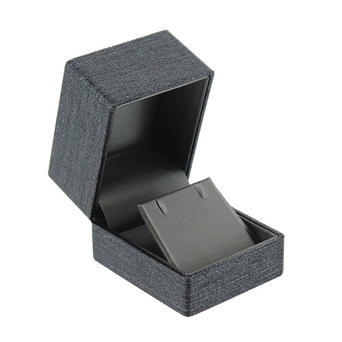 "PremiumRibbon  Earring Box-grey 2 1/8"" x 2 1/2"" x  2""H"