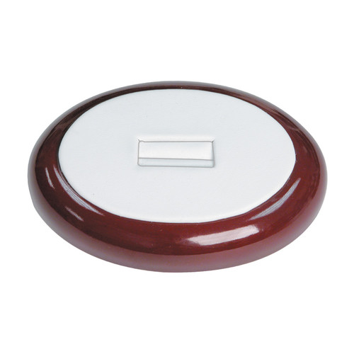 "Single Ring Slot Display with Wood Trim 4 1/4"" x 3"" x 3/4"" H"