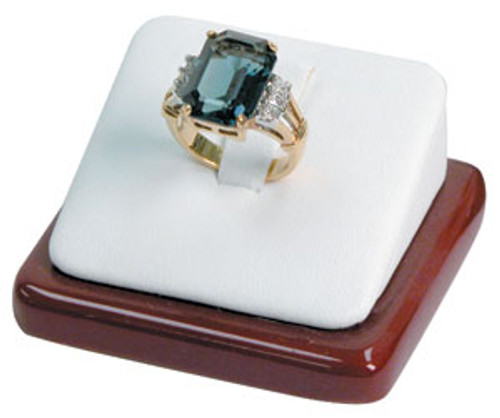 """Ring Display with Wood Trim and Clip 2 1/8"""" x 2"""" x 1"""""""