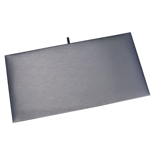 "Full Size Plain Pad 14 1/8"" x 7 5/8"",Steel Grey Leather"