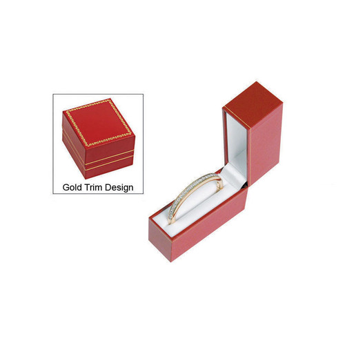 "LW4 Classic Style Bangle Box, 1 1/4"" x 3 3/4"" x 3 1/8"" ,Choose from various Color"