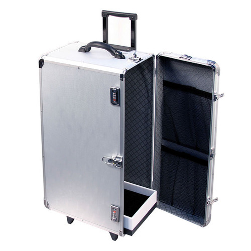 Tall Aluminum Case with Retractable Handle