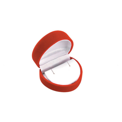 "Flocked Velour Heart Shaped Earring Box, 2"" x 1 3/4"" x 1 1/2"",Soft Flocked Velour Earring Box, 2"" x 2 1/4"" x 1 3/8"", Choose from various Color"