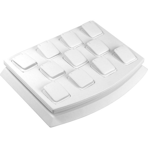 11-Pendant White Faux Leather Mini Display Set