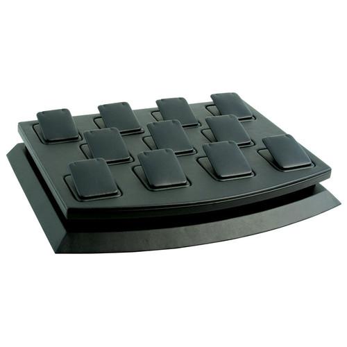 11-Pendant Black Faux Leather Mini Display Set
