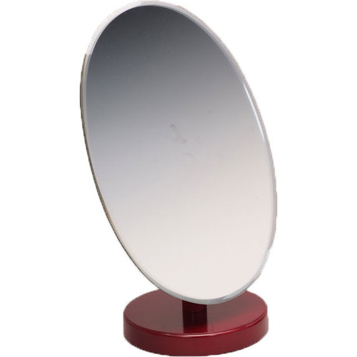 "Oval Rosewood Countertop Mirror 9""x 6"""