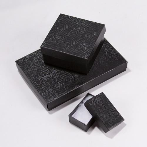 Black Swirl Cotton Filled Boxes (Choose from various sizes) ,price for 100 pcs