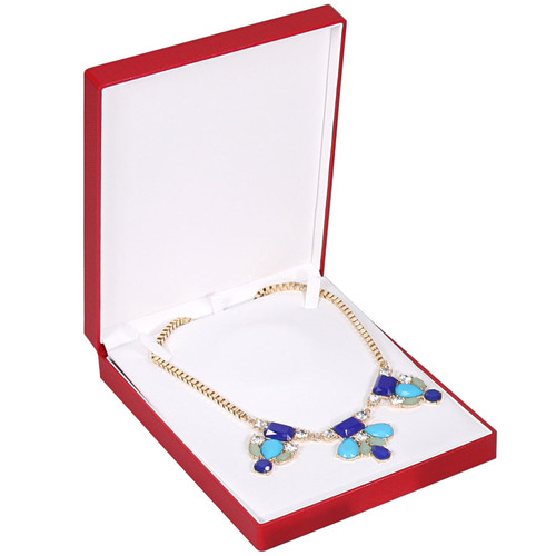 Fancy Necklace Box with Ribbon , Choose from various Color