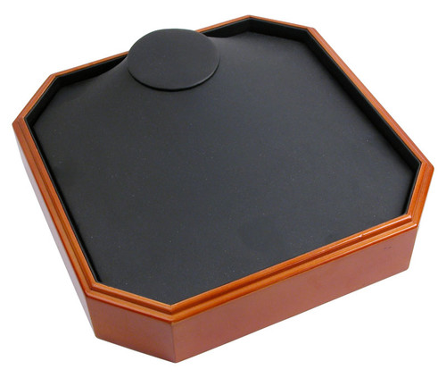 CLOSEOUT-Stackable Necklace Tray with Wood Trim (TQN26-OBK)