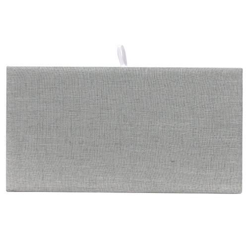 Full Size Grey Linen Plain Pad (DP-9301N-N21)
