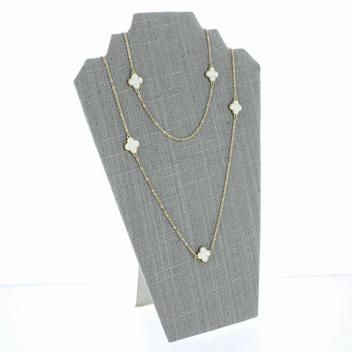 """Linen Necklace Easel Display 12 1/2""""H,  (Choose from various Color)"""