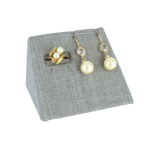 "Ring/Earring/Pendant Combo Display,linen,3.75x2.5x2.4""H,(Choose from various Color)"