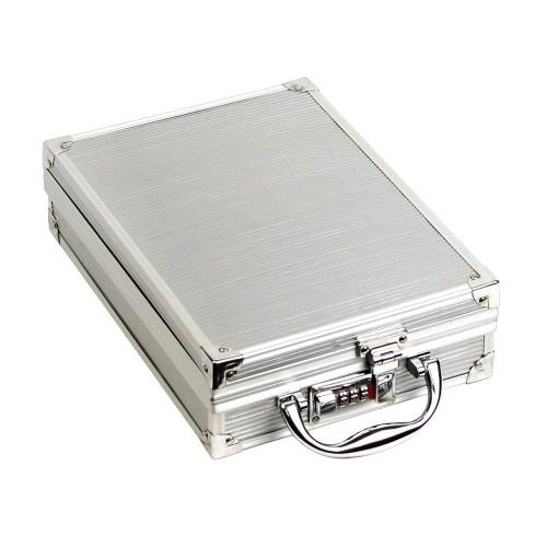 """Small Aluminum attache case, 8 1/2"""" x 12"""" x 3 1/8""""H"""