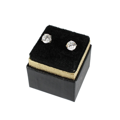 "Earring Box, 1 3/4"" x 1 3/4"" x 1 5/8""H,(Choose from various color)"
