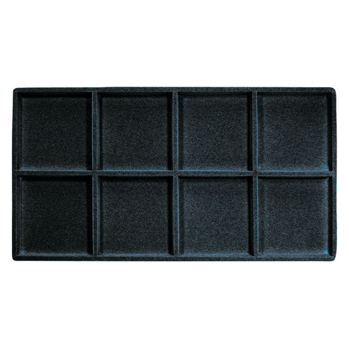 8-Compartment Flocked Tray Insert,(Choose from various Color)