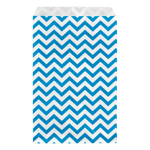 Paper gift bag , Chevron, Blue,(Choose from various sizes),Price for 100 Pieces.