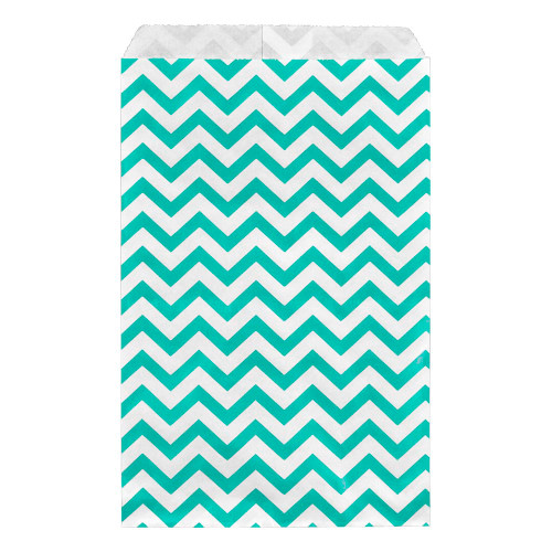 Paper gift bag , Chevron, Tear-Blue,(Choose from various sizes),Price for 100 Pieces.