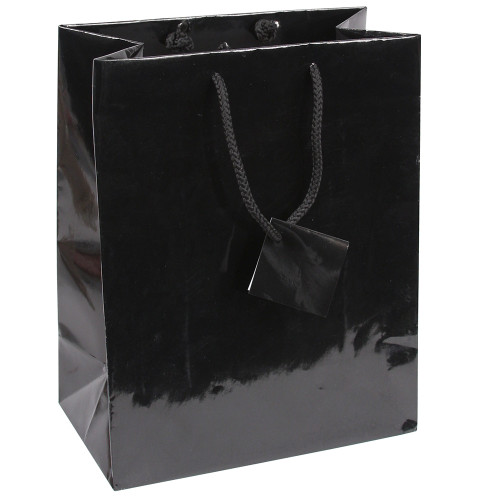 Tote Gift Bag , Black Glossy, (Choose from various sizes),Price for 20 pieces