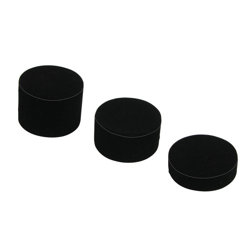 "3-Pcs Cylinder Set, 3 1/8""Dia., 1""H, 1 3/4""H, 2 1/2""H, Choose from various Color"