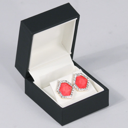 """Elegant Sleeve Earring Box , 1 7/8"""" x 2"""" x 1 7/8""""H ,  Choose from various Color"""