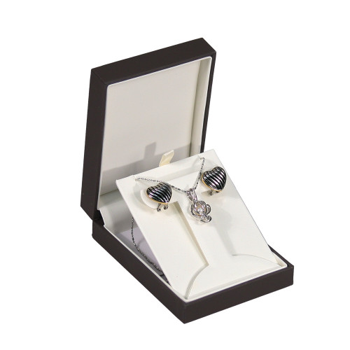 """Elegant Sleeve T-SHAPE Earring Box , 3"""" x 4 3/8"""" x 1 1/4""""H ,  Choose from various Color"""