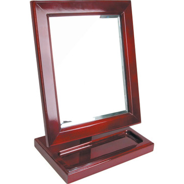 """Rosewood Countertop Mirror with Tray, 10"""" x 6 1/4"""" x 13 1/2"""""""