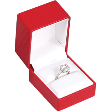 Fancy Ring Box with Ribbon , Choose from various Color