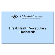 Life & Health Vocabulary Flashcards(Direct ships from AD BANKER via USPS)