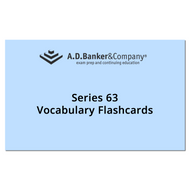 Series 63 Vocabulary Flashcards(Spanish)(Direct ship from AD BANKER)