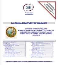 California Insurance Candidate Information Bulletin