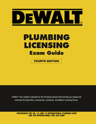 DEWALT® Plumbing Licensing Exam Guide (4th Edition)