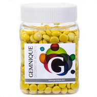 Mini Glass Gems - Yellow Opaque (48 oz.)