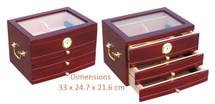 3 Drawer Cigar Cabinet - Cherry