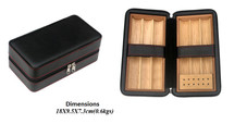 Six Cigar Leather Travel Humidor