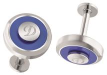 S.T Dupont Jeton Cufflinks - Blue