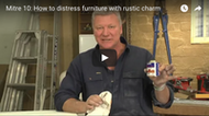 Video: How to distress furniture with rustic charm