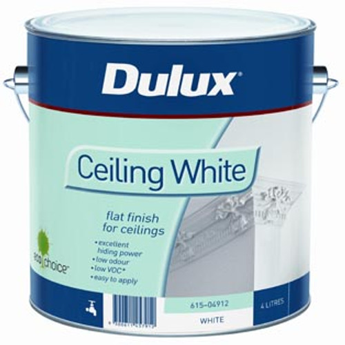ceiling white paintDulux once ceiling white  Banner Mitre 10