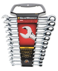 Wrench set ratchet metric 12pce gearwrench
