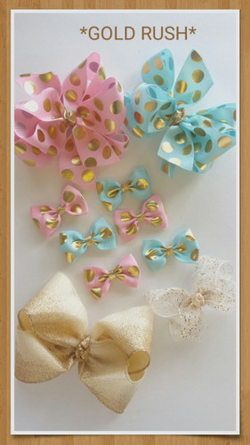 Gold Rush Bows available in different sizes