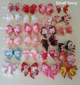 Small Fancy bow are delicately designed using 5/8 ribbon on the bottom and 3/8 ribbon on top