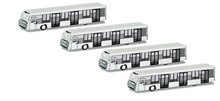 Herpa Airport Accessories: 4pc Bus Set 1/500