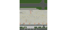 Herpa Airport foils, total size 90 x 100 cm 1/500