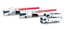 Herpa Airport accessories fuel tank and lavatory truck set (4pcs) 1/500