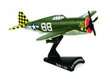 Postage Stamp P-47 Thunderbol Big Stud 1/100