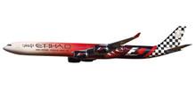 """Herpa Snap-Fit Etihad Airways Airbus A340-600 """"Abu Dhabi Grand Prix"""" 1/250"""