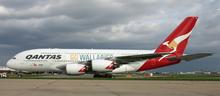 """Phoenix Qantas Airbus A380 """"Go Wallabies"""" VH-OQH 1/200"""