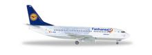 """Herpa Lufthansa Boeing 737-300 inkl. Stand """"Fanhansa"""" 1/400"""