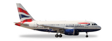 Herpa British Airways Airbus A318 1/400