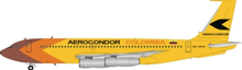 Inflight200 Aerocondor Colombia Boeing 720 HK-1973 1/200